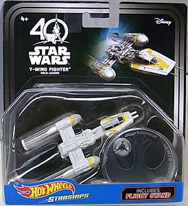 MATTEL HOT WHEELS STAR WARS 40TH ANNIVERSARY DIE-CAST VEHICLE Y-WING FIGHTER GOLD LEADER