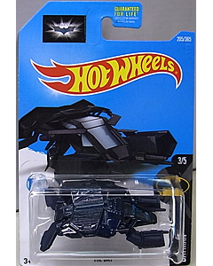 MATTEL HOT WHEELS 1/64スケール 2017 BATMAN 映画版 THE DARK KNIGHT RISES THE BAT #205