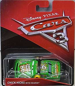 MATTEL CARS 3 シングル CHICK HICKS WITH HEADSET