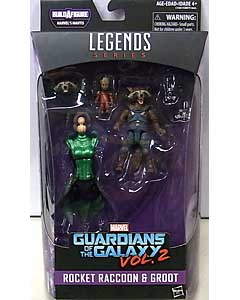 HASBRO MARVEL LEGENDS 2017 GUARDIANS OF THE GALAXY SERIES 2.0 映画版 GUARDIANS OF THE GALAXY VOL. 2 ROCKET RACCOON & GROOT [MANTIS SERIES] パッケージ傷み特価