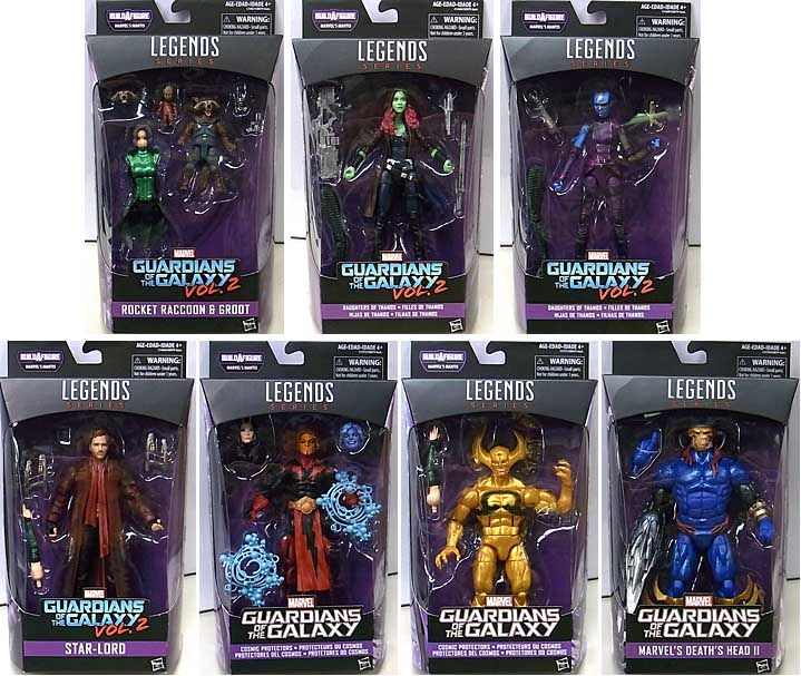 HASBRO MARVEL LEGENDS 2017 GUARDIANS OF THE GALAXY SERIES 2.0 7種セット [MANTIS SERIES] [国内版]
