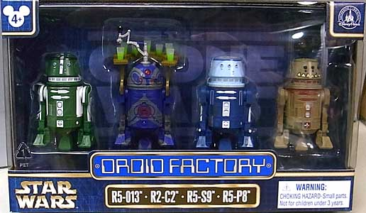 STAR WARS USAディズニーテーマパーク限定 STAR WARS DROID FACTORY 4PACK [R5-013、R2-C2、R5-S9、R5-P8]
