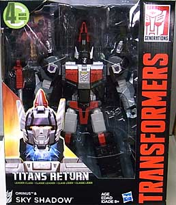 HASBRO TRANSFORMERS GENERATIONS TITANS RETURN LEADER CLASS OMINUS & SKY SHADOW パッケージ傷み特価