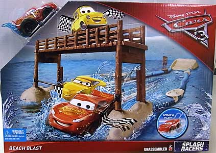MATTEL CARS 3 PLAYSET SPLASH RACERS BEACH BLAST
