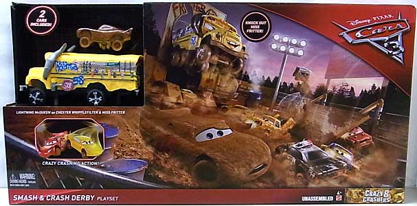 MATTEL CARS 3 PLAYSET SMASH & CRASH DERBY