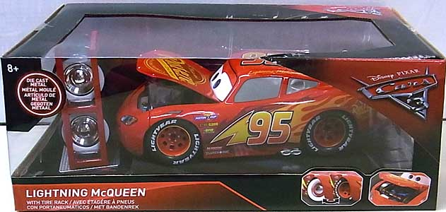 JADA TOYS CARS 3 METALS DIE CAST 1/24スケール LIGHTNING McQUEEN WITH TIRE RACK