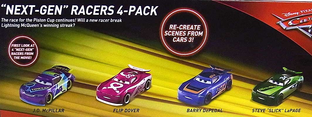 MATTEL CARS 3 NEXT-GEN RACERS 4PACK パッケージ傷み特価
