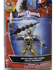 USA BANDAI POWER RANGERS NINJA STEEL 5インチアクションフィギュア NINJA MASTER MODE GOLD RANGER