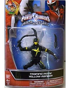 USA BANDAI POWER RANGERS NINJA STEEL 5インチアクションフィギュア TRAINING MODE YELLOW RANGER