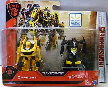 HASBRO 映画版 TRANSFORMERS: THE LAST KNIGHT WALMART限定 LEGION CLASS 2PACK BUMBLEBEE & AUTOBOT HOT ROD