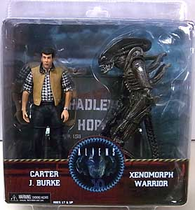 NECA ALIEN 7インチアクションフィギュア HADLEYS HOPE CARTER J. BURKE & XENOMORPH WARRIOR 2PACK