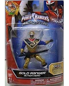 USA BANDAI POWER RANGERS NINJA STEEL 5インチアクションフィギュア GOLD RANGER