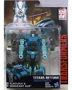 HASBRO TRANSFORMERS GENERATIONS TITANS RETURN DELUXE CLASS FLINTLOCK & SERGEANT KUP
