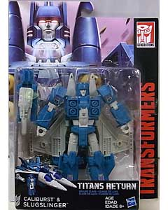 HASBRO TRANSFORMERS GENERATIONS TITANS RETURN DELUXE CLASS CALIBURST & SLUGSLINGER 台紙傷み特価