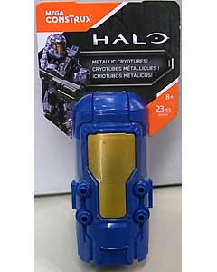 MEGA CONSTRUX HALO METALLIC BLUE CRYOTUBE UNSC SPARTAN DEFENDER