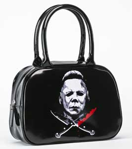 ROCK REBELS BOWLER HANDBAG HALLOWEEN II MICHAEL MYERS