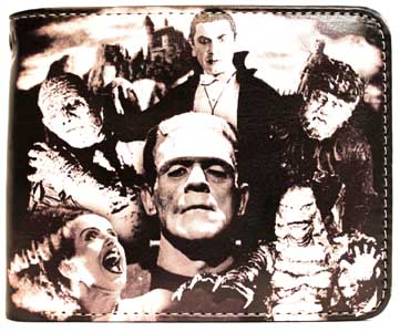 ROCK REBEL BILLFOLD UNIVERSAL MONSTERS COLLAGE