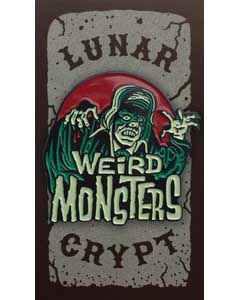 LUNAR CRYPT ENAMEL PIN WEIRD MONSTERS