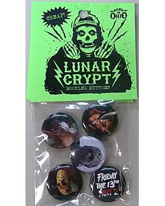 LUNAR CRYPT BOOTLEG BUTTONS FRIDAY THE 13TH