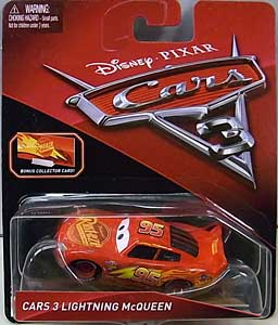 MATTEL CARS 3 シングル CARS 3 LIGHTNING McQUEEN [BONUS COLLECTOR CARD] ブリスター傷み特価