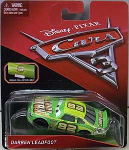 MATTEL CARS 3 シングル DARREN LEADFOOT [BONUS COLLECTOR CARD] ブリスターハガレ特価
