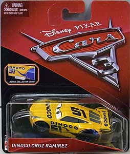 MATTEL CARS 3 シングル DINOCO CRUZ RAMIREZ [BONUS COLLECTOR CARD]