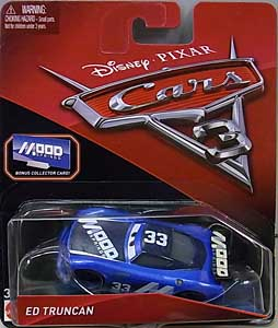 MATTEL CARS 3 シングル ED TRUNCAN [BONUS COLLECTOR CARD] 台紙傷み特価