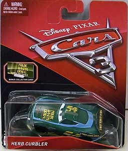 MATTEL CARS 3 シングル HERB CURBLER [BONUS COLLECTOR CARD] ワケアリ特価