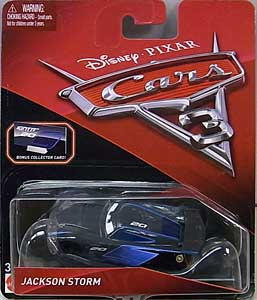 MATTEL CARS 3 シングル JACKSON STORM [BONUS COLLECTOR CARD]