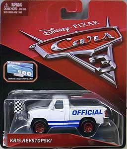 MATTEL CARS 3 シングル KRIS REVSTOPSKI [BONUS COLLECTOR CARD]