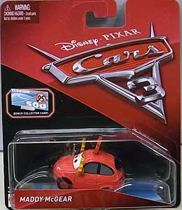 MATTEL CARS 3 シングル MADDY McGEAR [BONUS COLLECTOR CARD]