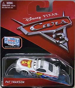MATTEL CARS 3 シングル PAT TRAXSON [BONUS COLLECTOR CARD]