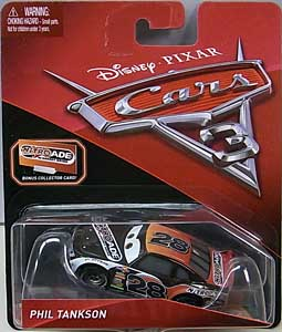 MATTEL CARS 3 シングル PHIL TANKSON [BONUS COLLECTOR CARD]