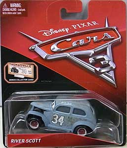 MATTEL CARS 3 シングル RIVER SCOTT [BONUS COLLECTOR CARD] 台紙傷み特価