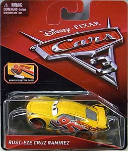 MATTEL CARS 3 シングル RUST-EZE CRUZ RAMIREZ [BONUS COLLECTOR CARD]