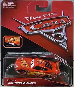 MATTEL CARS 3 シングル RUST-EZE LIGHTNING McQUEEN [BONUS COLLECTOR CARD]
