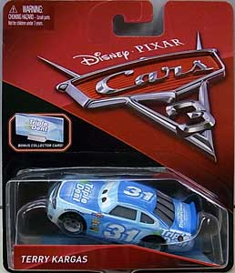 MATTEL CARS 3 シングル TERRY KARGAS [BONUS COLLECTOR CARD]