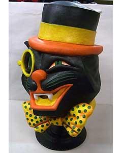 個人ハンドメイド品 HALLOWEEN BLACK CAT ラバーマスク