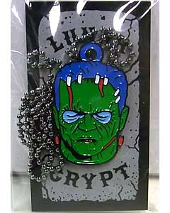 LUNAR CRYPT ENAMEL PIN WEAR-A-WEIRDO MONSTER WITH CHAIN