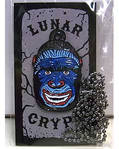 LUNAR CRYPT ENAMEL PIN WEAR-A-WEIRDO GORILLA WITH CHAIN