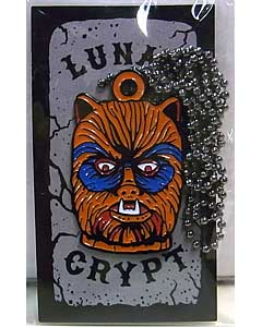 LUNAR CRYPT ENAMEL PIN WEAR-A-WEIRDO WOLFMAN WITH CHAIN