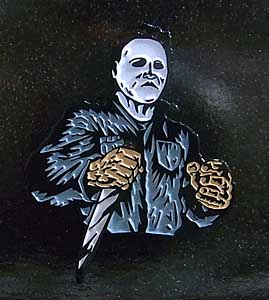 LONDON 1888 ENAMEL PIN MICHAEL MYERS