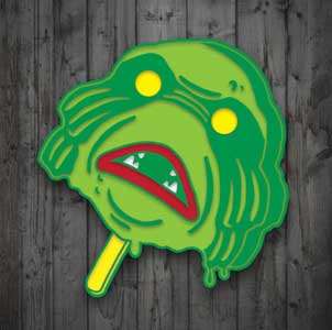 MONSTERS ARE GOOD. ENAMEL PIN CREECHPOP