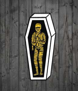 MONSTERS ARE GOOD. ENAMEL PIN MAGIC MUMMY