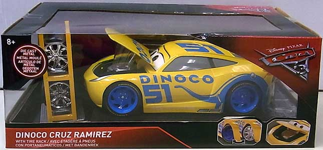 JADA TOYS METALS DIE CAST 1/24スケール CARS 3 DINOCO CRUZ RAMIREZ WITH TIRE RACK