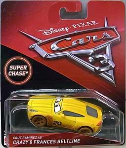 MATTEL CARS 3 シングル SUPER CHASE CRUZ RAMIREZ CRAZY 8 FRANCES BELTLINE