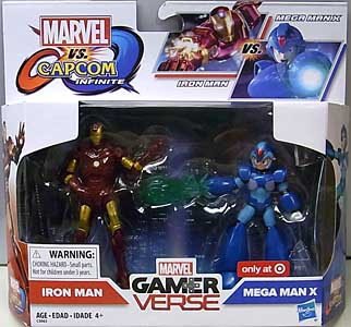 HASBRO MARVEL VS. CAPCOM: INFINITE 3.75インチアクションフィギュア 2PACK IRON MAN VS MEGA MAN X