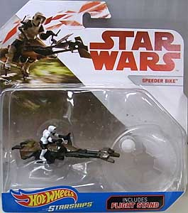 MATTEL HOT WHEELS STAR WARS DIE-CAST VEHICLE SPEEDER BIKE 台紙傷み特価