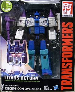 HASBRO TRANSFORMERS GENERATIONS TITANS RETURN LEADER CLASS DREADNAUT & DECEPTICON OVERLORD