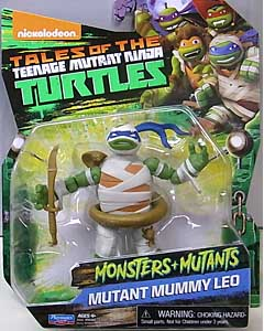 PLAYMATES NICKELODEON TALES OF THE TEENAGE MUTANT NINJA TURTLES ベーシックフィギュア 2017 MONSTERS + MUTANTS MUTANT MUMMY LEO